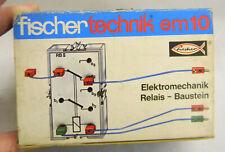 em10 Fischertechnik Elektromechanik Relais - Baustein  NEU Vintage Baukasten