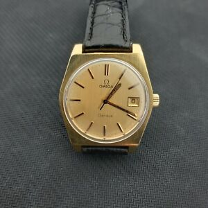 Man's Omega Geneve gold plated watch cal.613 ref.136.0049,working well