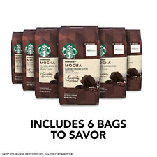 Pack of 6 Starbucks Mocha Flavored Ground Coffee 11 OZ - Best Before Sept 2020