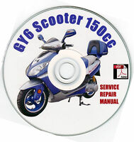 Scooter 150cc GY6 QMJ Service Repair Shop Manual on CD VIP Peace Sports Sanli