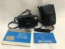 CHINON Auto3501 35mm Film Camera w Case + Strap + Manual