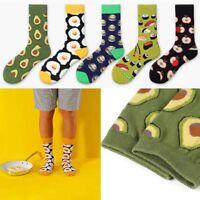 NEW Women Cute Fruit Socks Avocado Apple Cherry Hamburger Egg Sock Cotton Socks