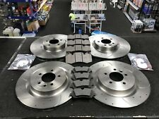 RANGE ROVER 3.0 SDV6 HYBRID MK 4  FRONT REAR DRILLED GROOVED BRAKE DISCS AND PAD