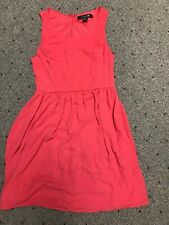 Womens Teen Girls Forever 21 size Small Sleeveless Dress Pinkish Red preowned