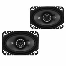 KICKER 43CSC464 Csc46 4x6-inch Coaxial Speakers 4-ohm