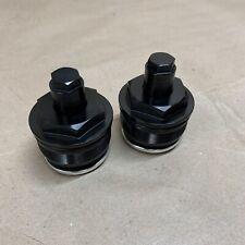 Harley Dyna 49mm Preload Fork Adjusters Black 2006-17 FDX FXDL FXDF FXDB FXDLS