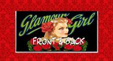 GLAMOUR PIN UP GIRL ROSES VINTAGE LABEL VINYL CHECKBOOK COVER