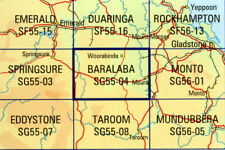 Baralaba SG55-04 Queensland 1:250,000  topographic map brand new latest edition