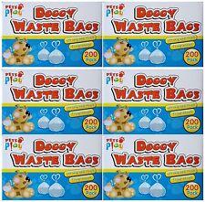 1200 DOGGY BAGS Scented Pet Pooper Poop Scooper Dog Cat Poo Waste (6X200)