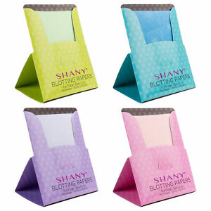SHANY On-the-go Oil Blotting Papers- Set of Four with 100 Oil Absorbent Sheets