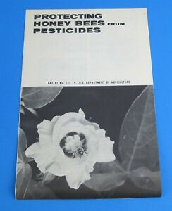 Vtg 70s US Dept of Agriculture Leaflet 544 Protecting Honey Bees from Pesticides