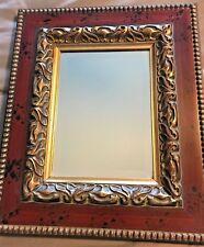 "John Richard JRM328 Wood Framed Gold Ornamental Trim Beveled Mirror 16""x19"""