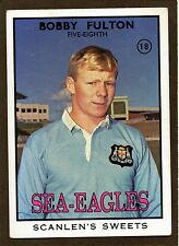 1968 SCANLENS SERIES 2 RUGBY LEAGUE-#18 BOBBY FULTON
