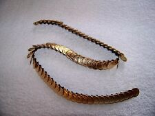 "Vintage Link Stretch Belt 1970s Ladies Gold Tone 26.5"" Unstretched"