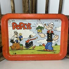 Vintage Popeye 1979 Tv Dinner Metal Tray Olive Oyl Brutus King Features