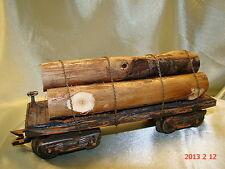 2  Logging Car   custom weathered, rusty, realistic look- hand built - lot 1 - O