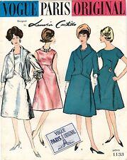 1960's VTG VOGUE PARIS ORIGINAL Dress&Jacket Castillo w/Label Pattern 1133 14