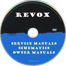 Revox Service Manuals & Schematics- PDFs on DVD - Huge Collection