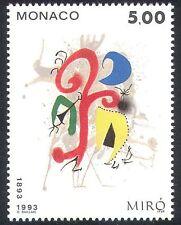 Mónaco 1993 Joan Miró/Arte/Pintura/artistas/Contemporáneo/moderno 1v (n39998)