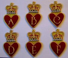Royal Queen Family Name Letter Valentine Heart Crown A B C D E F Jacket Patch Xo
