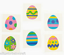 "36 Easter Egg Spring Temporary Tattoos Kids Easter Basket Colorful 1.5"" ABCraft"