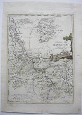 Circolo del Basso Reno bassa Reno KOLOR KUPFERSTICH mappa A. Costa 1793