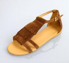 New Authentic Gucci Kids Suede Sandal w/Fringe Detail, sz 29/US 12, 285285