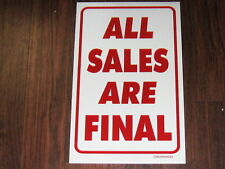 General Business Sign: All Sales Are Final