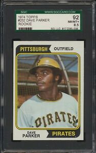 1974 Topps Dave Parker #252 Pirates Rookie Card SGC 92 NM-MT+ 8.5 PACK FRESH