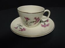Pink Thistle Unmarked Cup and Saucer