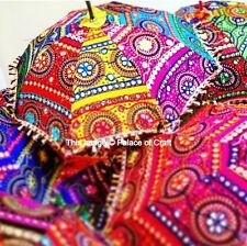 10 Wholesale Indian Cotton Parasol Embroidery Umbrella Mandala Umbrellas Decor