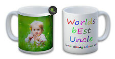 Personalised Worlds best Uncle Mug. Customise with your own text. FOC.-IL1005