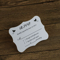 Butterfly Wedding Rsvp cards,Wish well cards Free Design,Free Custom Printed