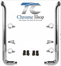 """Peterbilt Complete Chrome Exhaust System Set 6-5 108"""" ANY TIP STYLE WE HAVE IT"""