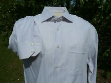 "EROS SHIRT 17"" X 37"" X 52"" CHEST BLUE STRIPES ON BLUE ITALIAN"