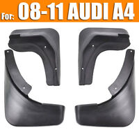 FIT FOR AUDI A4 (B8) SEDAN 2009 2010 2011 MUD FLAP FLAPS SPLASH GUARDS MUDGUARD