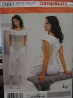 bloomers chemise corset Victorian Civil War underwear sewing pattern uncut 2890