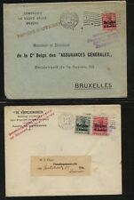 Belgium   ,  German occupation   2 covers          MS1224