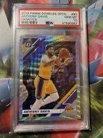 2019 Donruss Optic Fanatics SILVER WAVE PRIZM Anthony Davis #90 PSA 10 LAKERS