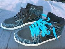 "Air Jordan Retro 1 ""Preforated Blue"" 136065-042 Blk/Laser Blu  Used"