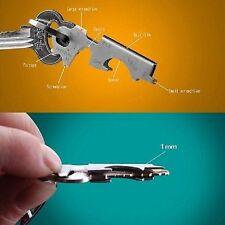 Multi-function 8 in 1 Stainless Steel Bottle Opener Keychain Key Clip Gadget avi