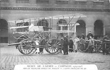 CPA GUERRE 1914 MUSEE ARMEE ENSEMBLE BIPLAN FRANCAIS CRIBLE DE BALLES
