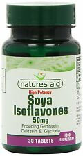 Naturalezas ayuda isoflavonas de soja - 50mg no modificados genéticamente 30 Etiquetas