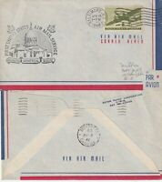 US 1946 FIRST FLIGHT FLOWN COVER WASHINGTON DC TO MONTREAL CANADA ROUTE
