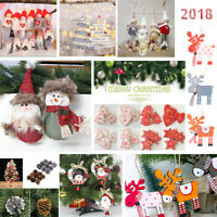 Merry Christmas Tree Hanging Decor Snowman Santa Claus Elk Sock Decorations