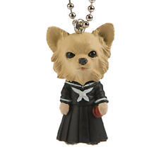 Dogs in School Uniforms Chihuahua Keychain