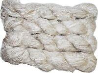 100g Recycled Banana Silk Vegan Yarn off White free shipping