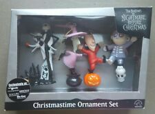 Lock, Shock and Barrel Zero Tim Burton Nightmare Before Christmas Ornament Set