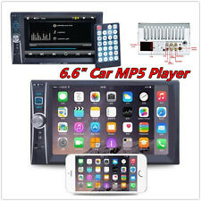 "Bluetooth Car Stereo DVD CD MP3 Player 6.6"" Double 2Din Radio In-Dash + Camera"