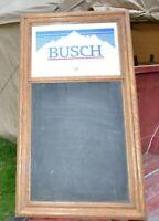 VINTAGE BUSCH BEER SIGN BAR MIRROR CHALKBOARD  ANHEUSER-BUSCH BREWERY 1984